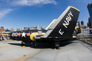 United States Navy Grumman F9F-8 Cougar (141117) at  Intrepid Sea Air & Space Museum, United States