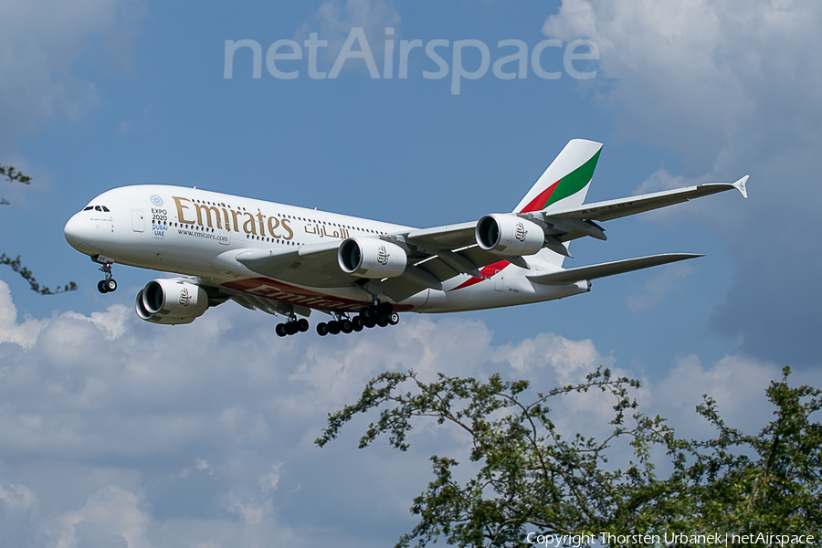 Emirates Airbus A380-861 (A6-EOV) | Photo 115649