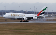 Emirates Airbus A380-842 (A6-EVF) at  Munich, Germany