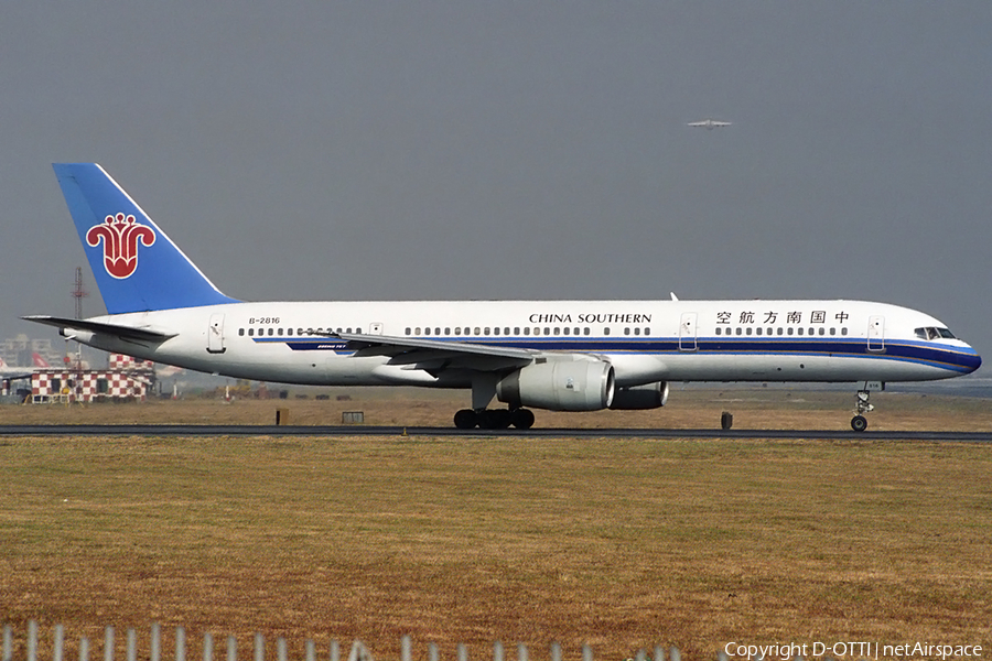 China Southern Airlines Boeing 757-21B (B-2816) | Photo 163035
