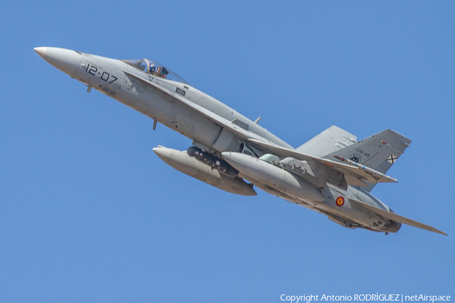 Spanish Air Force McDonnell Douglas EF-18A Hornet (C.15-49) | Photo 415633