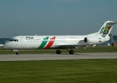PGA Portugalia Airlines Fokker 100 (CS-TPA) at  Manchester - International (Ringway), United Kingdom