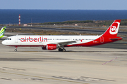 Air Berlin Airbus A321-211 (D-ABCH) at  Gran Canaria, Spain