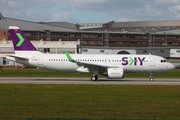 Sky Airline (Chile) Airbus A320-251N (D-AUBT) at  Hamburg - Finkenwerder, Germany