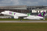 Sky Airline Airbus A320-251N (D-AUBT) at  Hamburg - Finkenwerder, Germany