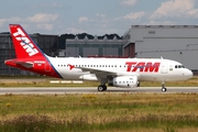 TAM Brazilian Airlines Airbus A319-132 (D-AVYI) at  Hamburg - Finkenwerder, Germany