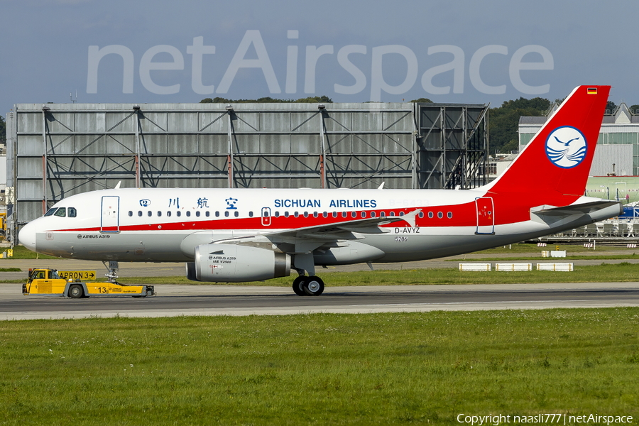 Sichuan Airlines Airbus A319-133 (D-AVYZ) | Photo 12176