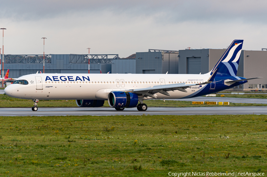 Aegean Airlines Airbus A321-271NX (D-AVZD) | Photo 408766