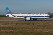 China Southern Airlines Airbus A321-253NX (D-AZAA) at  Hamburg - Finkenwerder, Germany