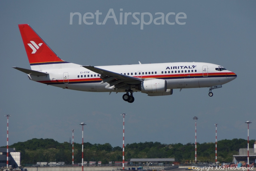 Meridiana Boeing 737-73S (EI-FFM) | Photo 325293