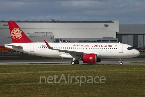 Juneyao Airlines Airbus A320-271N (F-WWIB) at  Hamburg - Finkenwerder, Germany