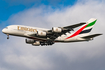 Emirates Airbus A380-842 (F-WWSZ) at  Hamburg - Finkenwerder, Germany