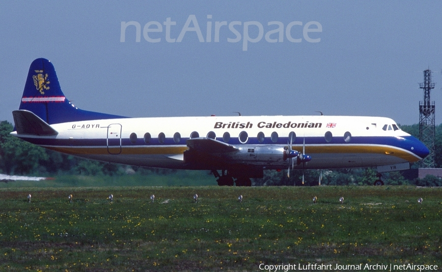 British Caledonian Airways Vickers Viscount 806 (G-AOYR) | Photo 421317
