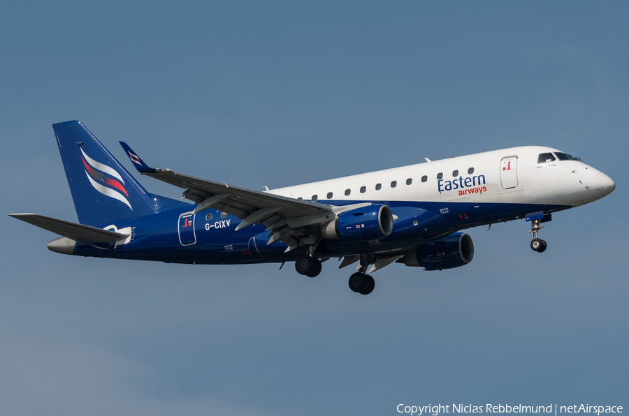 Eastern Airways Embraer ERJ-170LR (ERJ-170-100LR) (G-CIXV) | Photo 262814