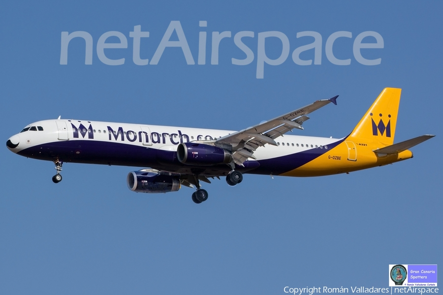 Monarch Airlines Airbus A321-231 (G-OZBE) | Photo 336402
