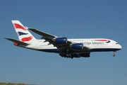 British Airways Airbus A380-841 (G-XLEE) at  Johannesburg - O.R.Tambo International, South Africa