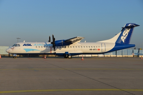 ASL Airlines Switzerland ATR 72-202(F) (HB-AFX) at  Cologne/Bonn, Germany