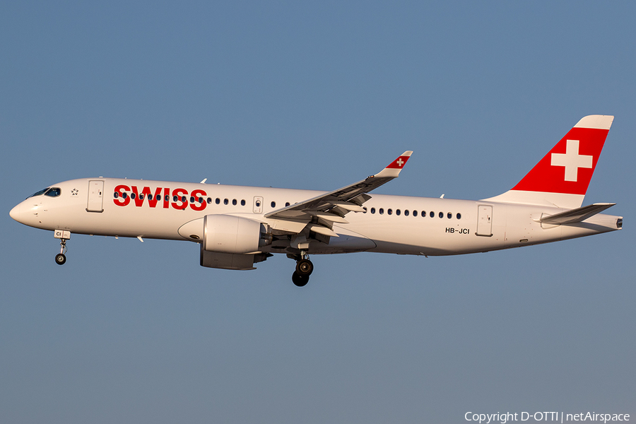 Swiss International Airlines Airbus A220-300 (HB-JCI) | Photo 241738