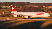 Swiss International Airlines Airbus A340-313X (HB-JMA) at  Zurich - Kloten, Switzerland