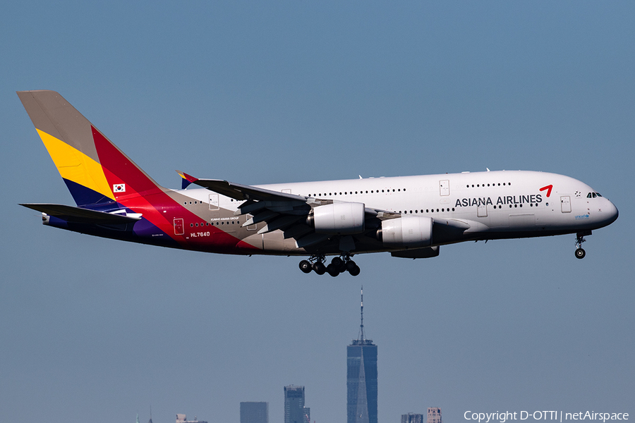 Asiana Airlines Airbus A380-841 (HL7640) | Photo 357540