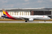 Asiana Airlines Airbus A321-231 (HL8257) at  Hamburg - Finkenwerder, Germany