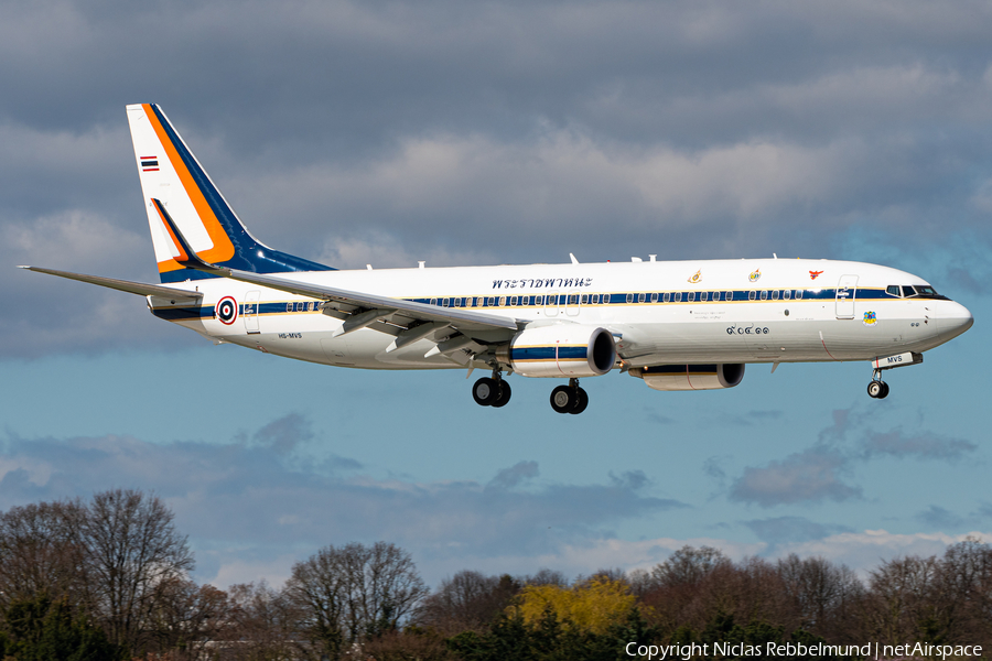 Royal Thai Air Force Boeing 737-8Z6(BBJ2) (HS-MVS) | Photo 377954