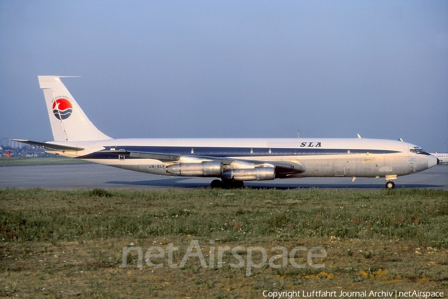 St. Lucia Airways Boeing 707-323C (J6-SLF) | Photo 399831