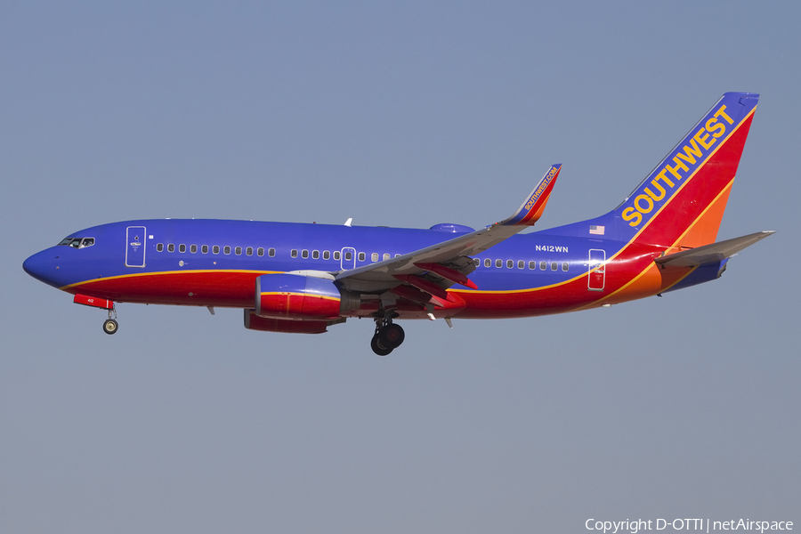 Southwest Airlines Boeing 737-7H4 (N412WN) | Photo 424651
