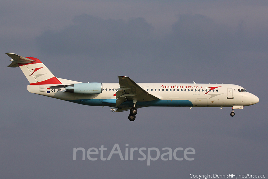 Austrian Arrows (Tyrolean) Fokker 100 (OE-LVA) | Photo 401230