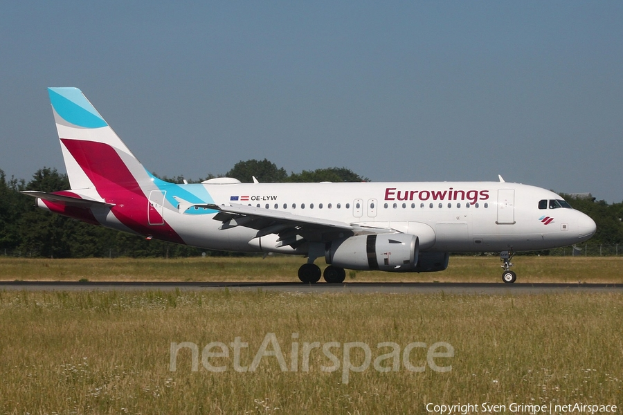 Eurowings Europe Airbus A319-132 (OE-LYW) | Photo 247245