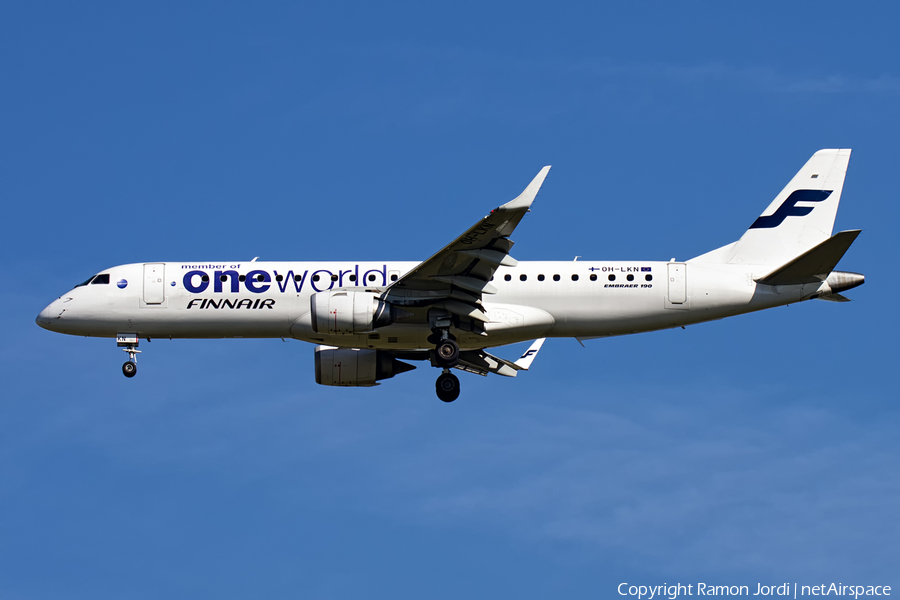 Finnair Embraer ERJ-190LR (ERJ-190-100LR) (OH-LKN) | Photo 132640