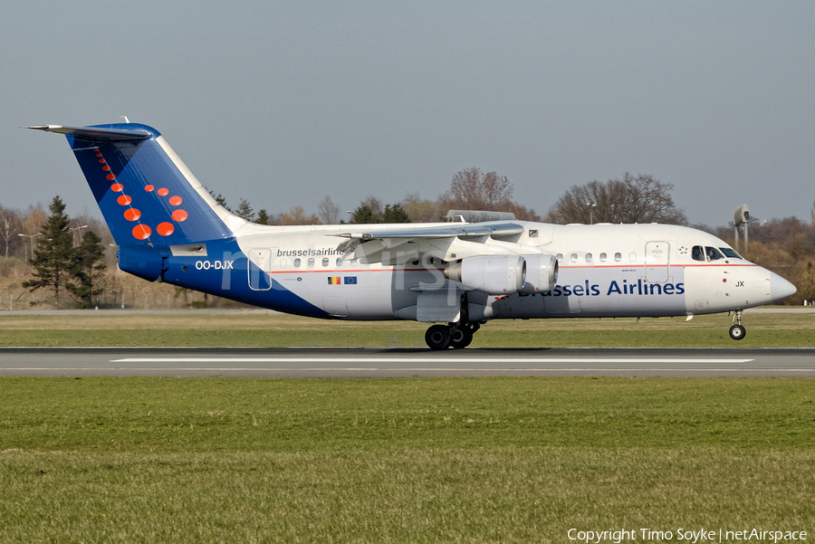 Brussels Airlines BAe Systems BAe-146-RJ85 (OO-DJX) | Photo 345447