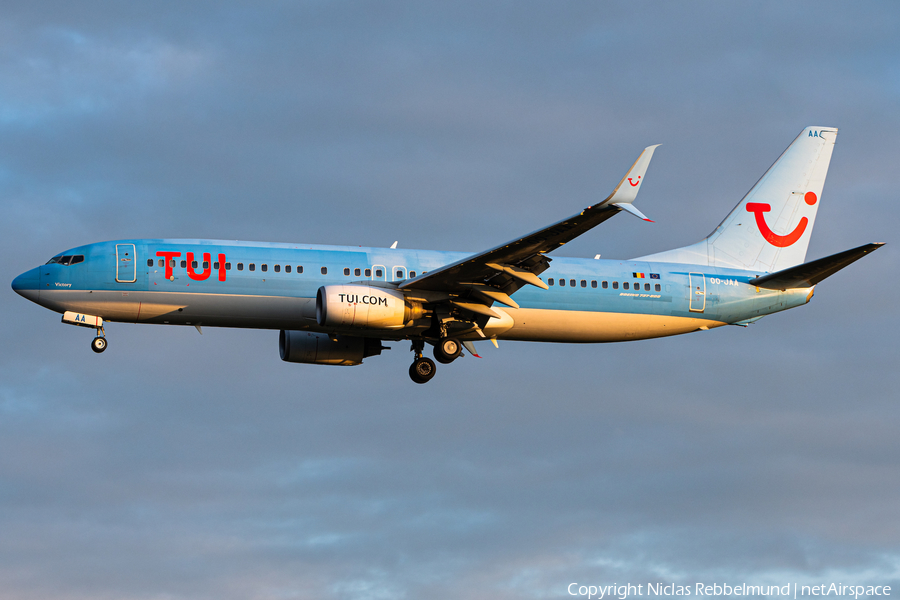 TUI Airlines Belgium Boeing 737-8BK (OO-JAA) | Photo 346677