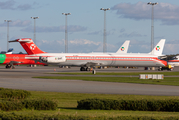 Danish Air Transport (DAT) McDonnell Douglas MD-82 (OY-RUT) at  Billund, Denmark