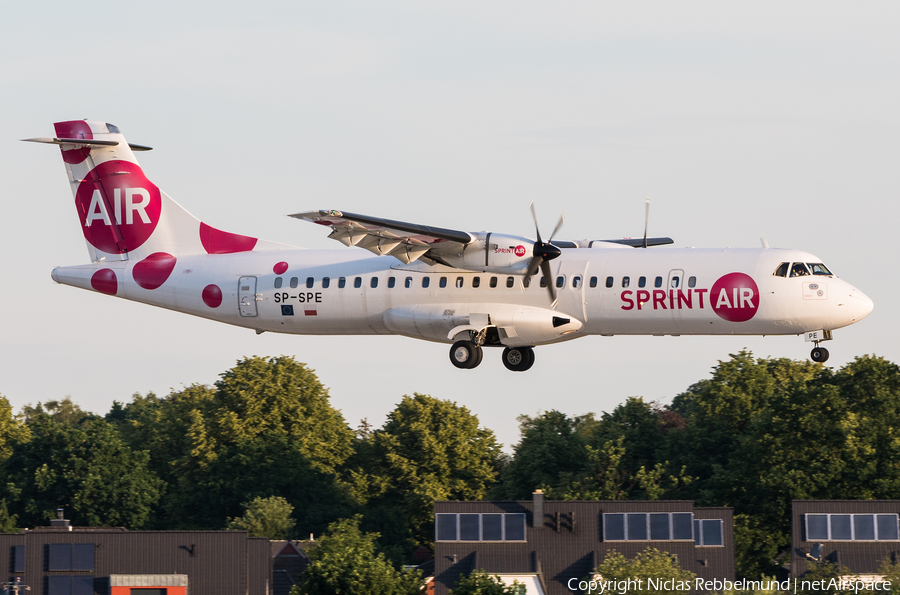 Sprint Air ATR 72-202 (SP-SPE) | Photo 332631