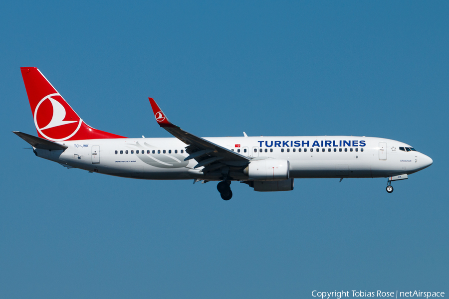 Turkish Airlines Boeing 737-8F2 (TC-JHK) | Photo 310674