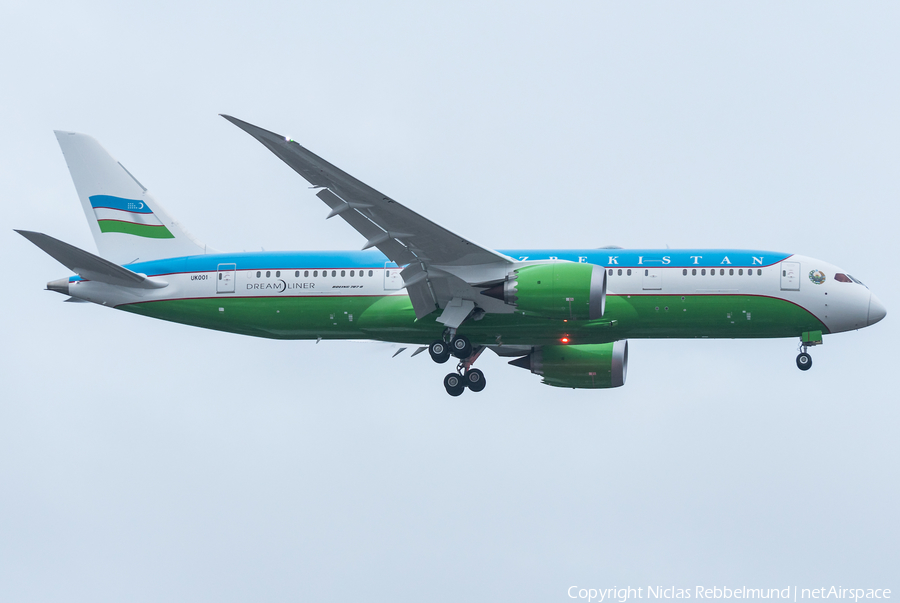 Uzbekistani Government Boeing 787-8(BBJ) (UK001) | Photo 282028