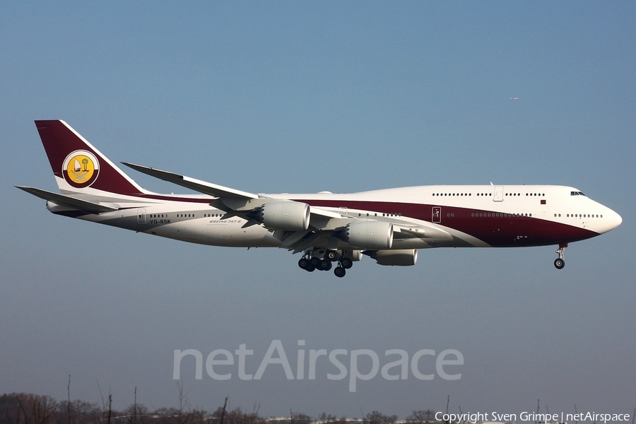 Qatar Amiri Flight Boeing 747-8ZV(BBJ) (VQ-BSK) | Photo 218619