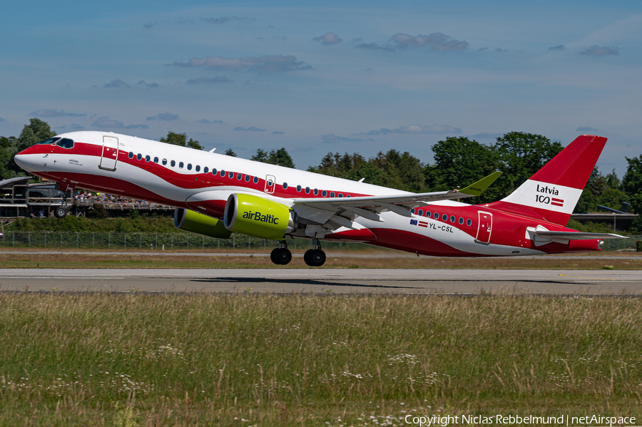 airBaltic Airbus A220-300 (YL-CSL) | Photo 391286