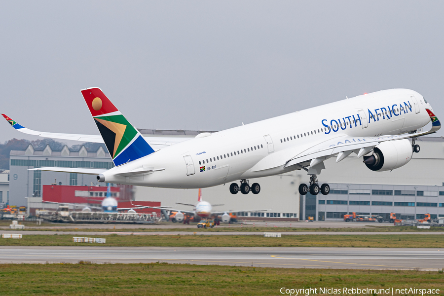 South African Airways Airbus A350-941 (ZS-SDE) | Photo 359876